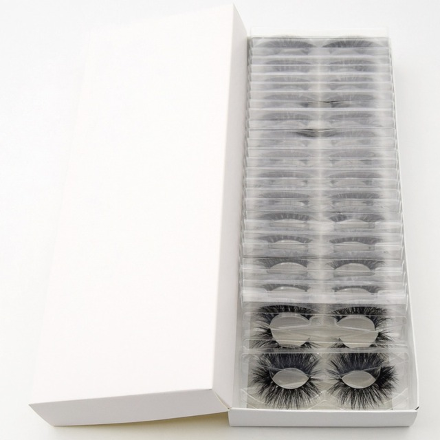 Visofree 30/40/100 Pairs 3D Mink Lashes With Tray No Box Handmade Full Strip Lashes Mink False Eyelashes Makeup eyelashes cilios 4