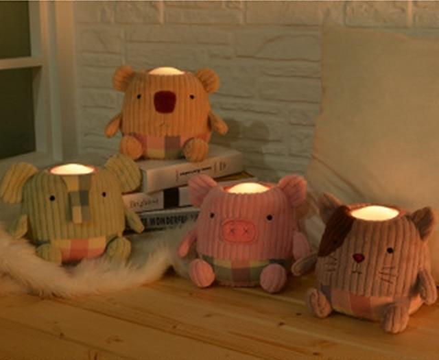 Knuffel Met Licht : 1 st kinderen gift nachtlampje led licht gloeiende zachte gevulde
