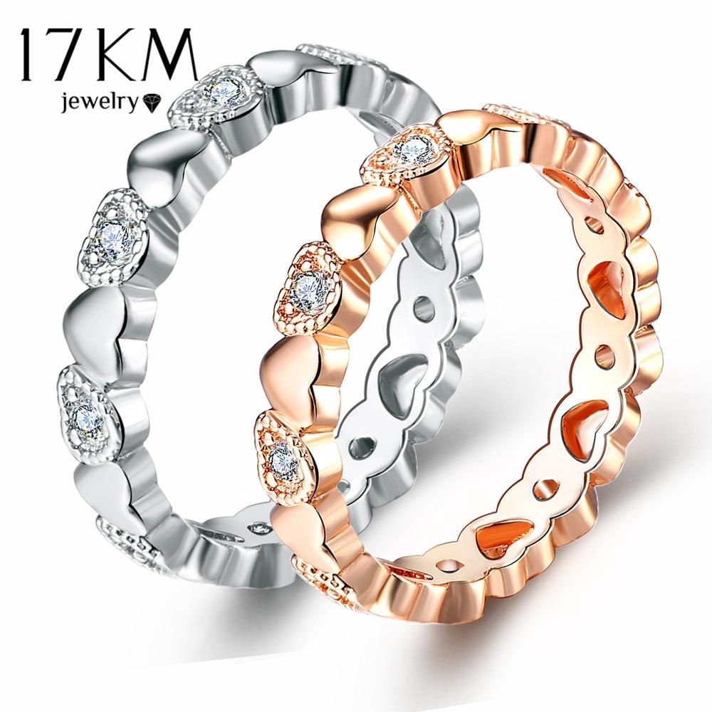 17 Km Weibliche Endlose Liebe Herz Ringe Für Frauen Liebhaber 2 Farbe Mode Engagement Hochzeit Schmuck Zirkonia Ring Neue 2018 üPpiges Design