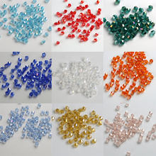 4MM Bicone crystal loose beads supply AB color plating, bracelet Jewelry Clothing Making 100pcs Plus 100pcs