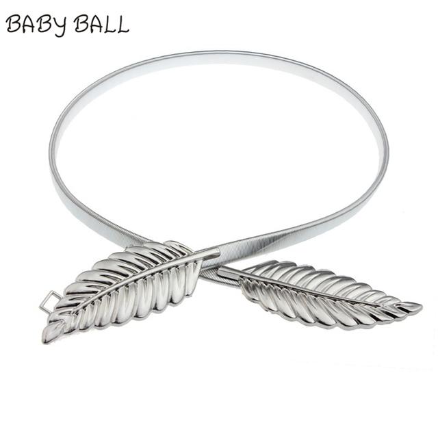 Fashion Charming Leaves Cummerbund Waistband Waist Belt Leaves Chain Strap Belt Dress Adornment  Oct31