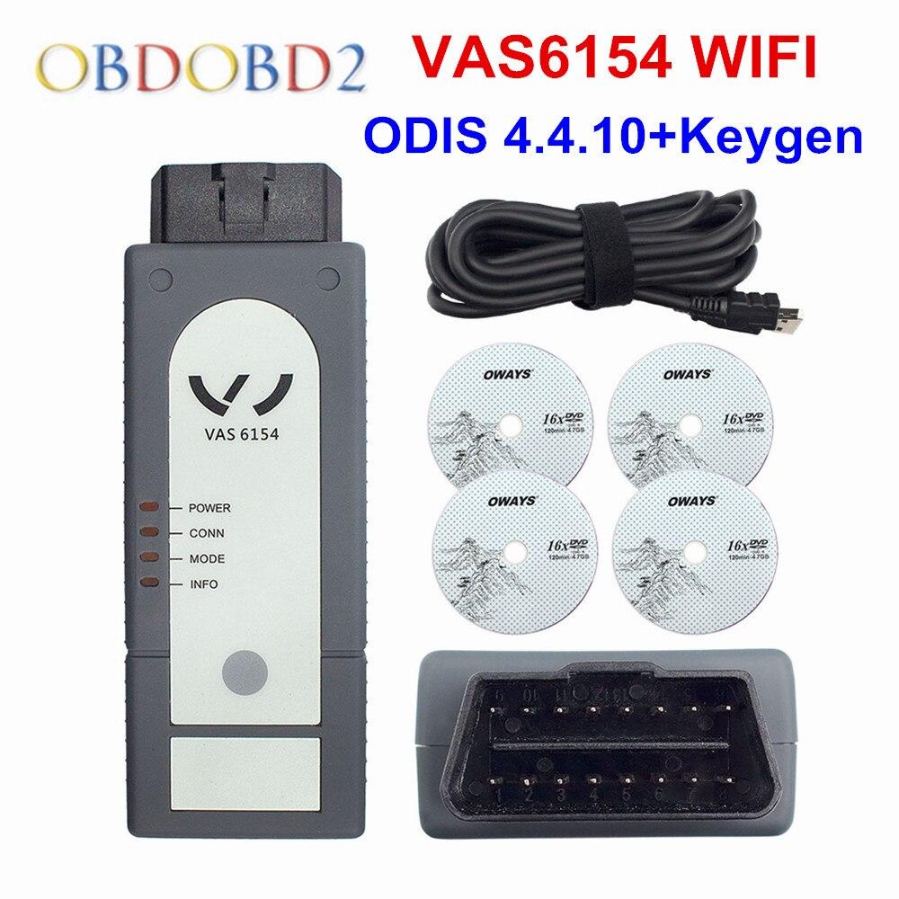 Best VAS 6154 4.4.1 ODIS V4.4.10 OKI Full Chip VAS6154 WIFI & Bluetooth For Audi/Skoda Better Than VAS5054 Support UDS For VAG