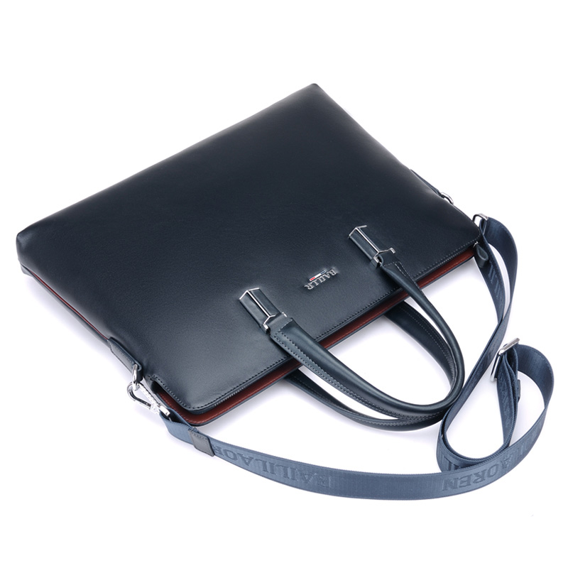 genuíno bolsa dos homens laptop Abacamento / Decoração : Nenhum