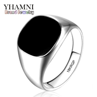2016 Latest Fashion Never Fade 316l Stainless Steel Ring 18K Gold Plated Black Onyx Stone CZ