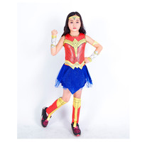 Kids Girls Wonder Woman Cosplay Costume Deluxe Child Dawn Of Justice Princess Halloween New Year Party