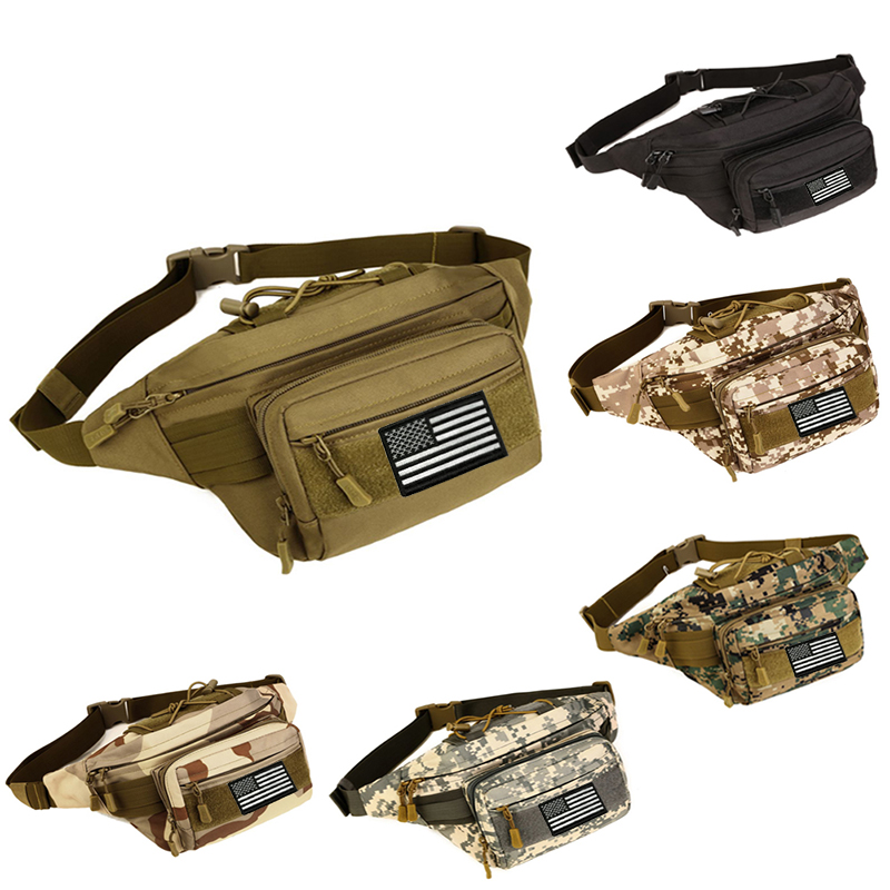 Protector Plus Military Fanny Pack Tactical Waist Bag Pack Waterproof Hip Belt Bag Pouch for Hiking Climbing Outdoor Bumbag