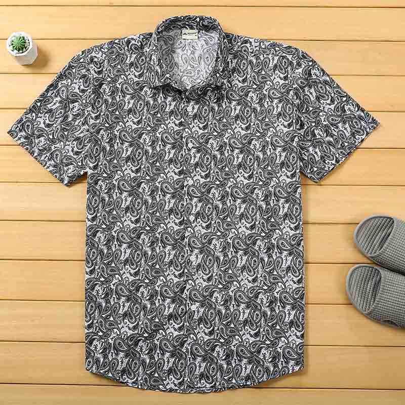 Мужская пляжная гавайская рубашка тропическая летняя рубашка с коротким рукавом мужская брендовая одежда Повседневная Свободные хлопчатобумажные рубашки Большие размеры