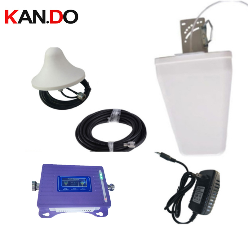 For 2 Rooms W/ 20m Cable Antenna 2G 4G Repeater LCD Display Dual Bands GSM 4 Booster Repeater LTE 4g Gsm 900 1800mhz Booster