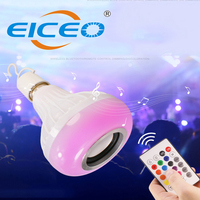 2018 New Product LED Bulb Light Bluetooth Music Bulb Lamp Free Emergency Led Seven Color Box Bulb Remote Control Contact Wifi