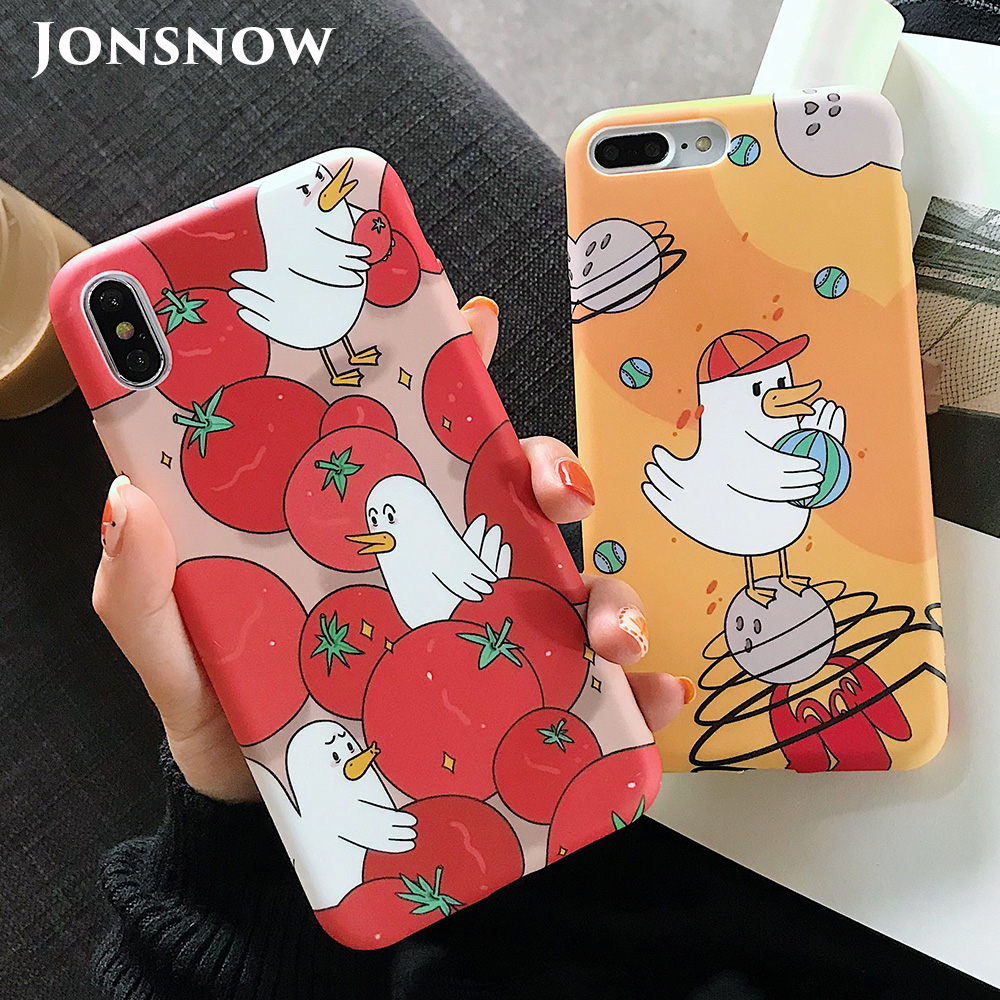 KIPX1123_1_JONSNOW Solid Liquid Soft Silicone Case For iPhone X XR XS Max 6 6S 7 8 Plus Cases Painted Cartoon Chick Cat Pattern TPU Cover