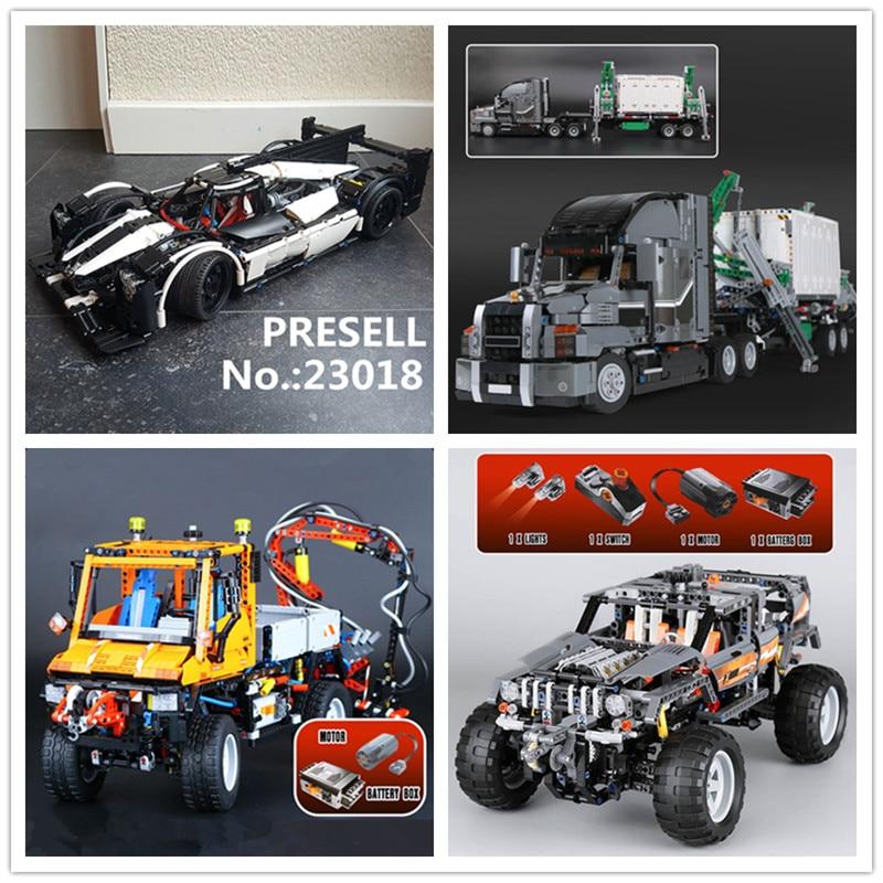 LEPIN 23018 MOC 5530 Hybrid Super Racing Car 20030 The Off-Roader 20076 The Mack Big Truck 20019 Truck U400 Building Block Toys цена 2017