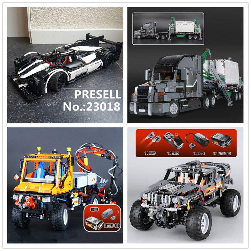 LEPIN 23018 MOC 5530 Hybride Super Voiture De Course 20030, Le Tout-Terrain 20076 Le Mack Gros Camion 20019 Camion u400 Building Block Jouets
