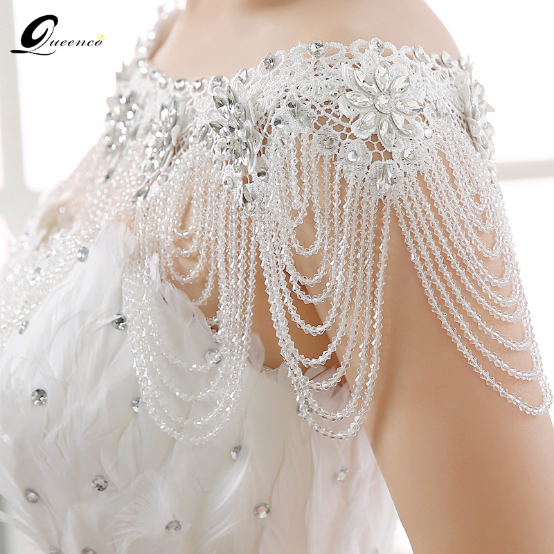 New Luxury Lace Bridal Shoulder Chains Noble Wedding Chains Women Shoulder Straps Jewelry full Crystal Big