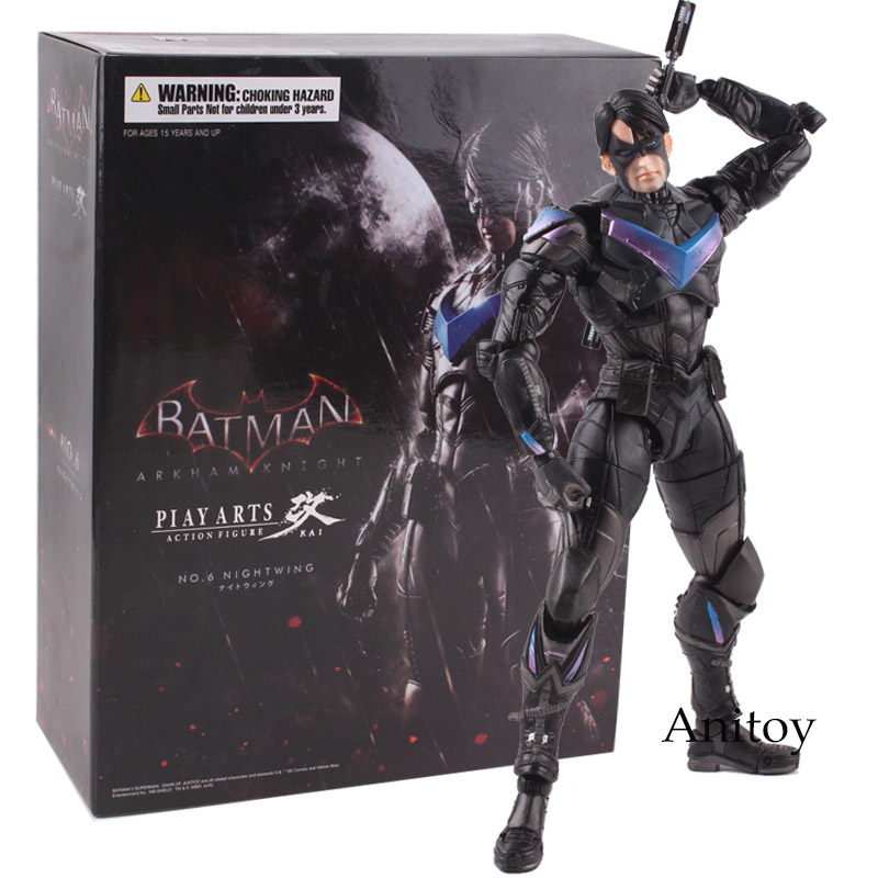 Figurine Batman Arkham Knight Play Arts Kai Action Figure No.6 Nightwing PVC Collectible Model Toy 25cm