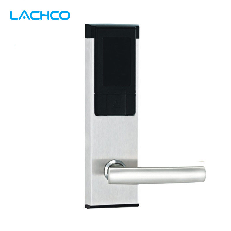 LACHCO Electronic RFID Card Door Lock Smart Digital Card Keyless Lock For Office Home Hotel Apartment L16061BS digital electric hotel lock 2017 promotion for rfid hotel door lock for hotel
