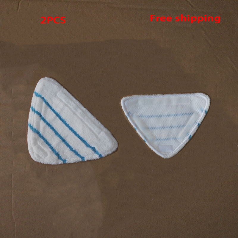 2PCS Top Quality Thicken Washable Microfiber Steam Cleaner Parts Mop Cloths For H20 Series Triangle Bonded Mop Pad