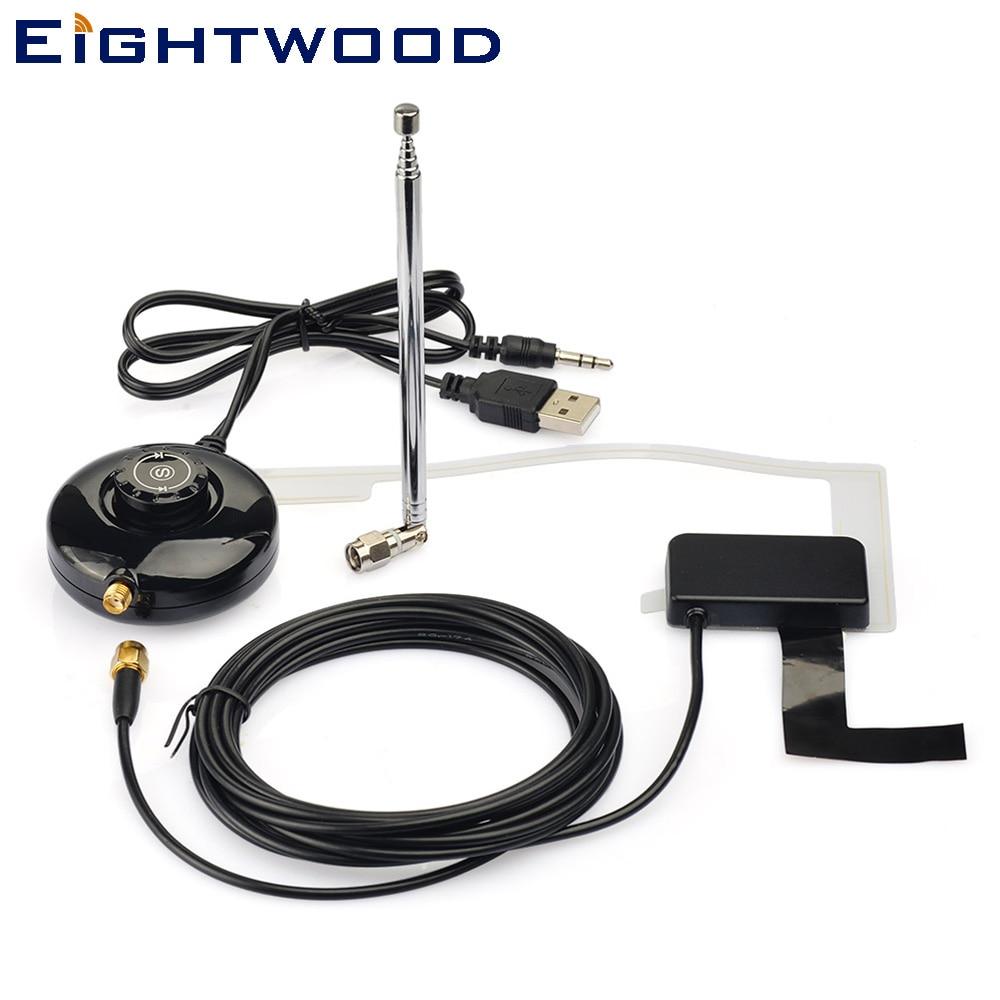 Eightwood Universel Voiture DAB/DAB + Radio Numérique Récepteur Antenne USB Alimenté pour Auto Radio ou Accueil Radio Système
