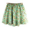 2016 Summer Flowers Print Sun Cute Japanese Lace skirt short mini Lolita Lovely Young Girls Skirts fashion Kawaii skirts