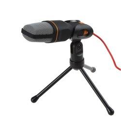 TGETH SF-666 mikrofon 3.5mm Jack przewodowy ze statywem statyw ręczny mikrofon na PC czat laptop do śpiewania karaoke