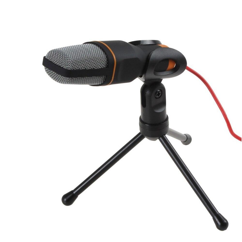 TGETH SF-666 Microphone 3.5mm Jack filaire avec support trépied micro portable pour PC bavarder chantant karaoké ordinateur portable