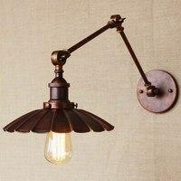 산업 포르투갈어 스타일 골동품 녹 벽 램프/스윙 암 벽 조명 워크 룸/욕실 허영 2 적용 팔 토네이도