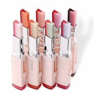 Image 1 - 8 Color Gradient Color Korean Bite Lipstick V Cutting Two Tone Tint Silky Moisturzing Nourishing Lipsticks Balm Lip Cosmetic New