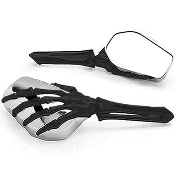 Brand new Chrome Black Custom Motorcycle Skeleton Mirrors For Yamaha Road Star Warrior Midnight XV