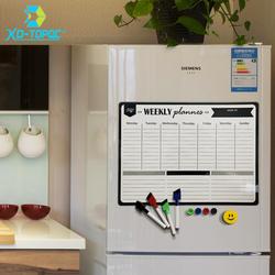 A3 Магнитный Еженедельный и ежемесячный планировщик белая доска магнит на холодильник Гибкая ежедневное сообщение Рисование холодильник