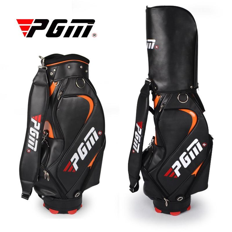 PGM Precision Men's Golf Bag Golf Clubs Bag A4737 pgm vs golf standard ball package bag87 23 46cm men golf plaid club bag women ball environmental pu cart bag can hold 13 clubs