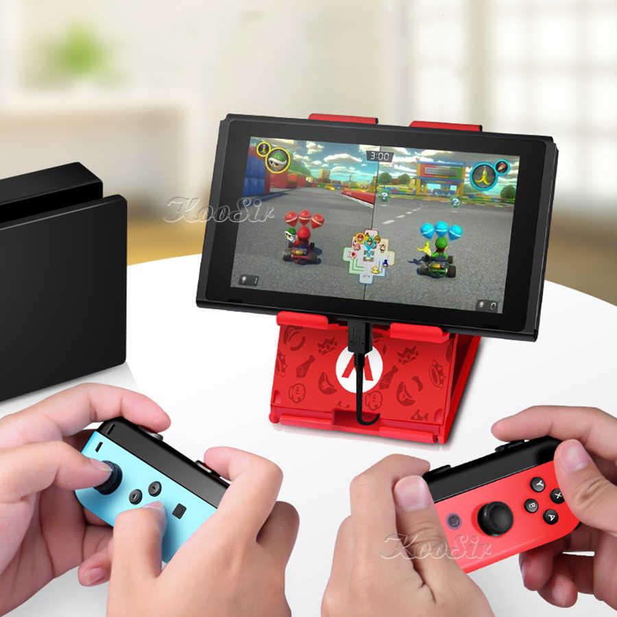 Para Nintendo Switch soporte plegable Nintendoswitch soporte de consola para Nintendo Switch/Lite/iPad/teléfono móvil/tableta