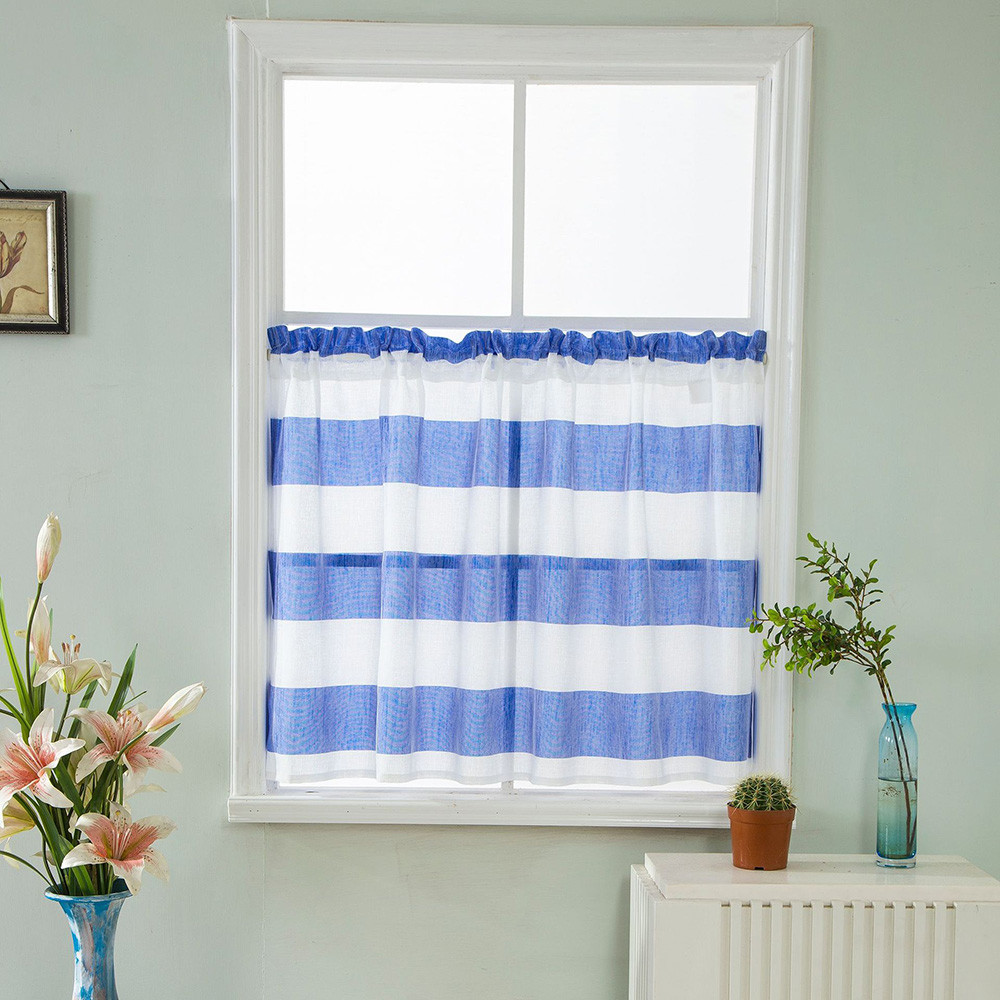 High Quanlity Microfiber Blackout Fabric Valance Curtains Extra Wide and Short Window Treatment Kitchen Living Bathroom 74 x 90