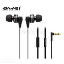 цена на Awei ES900i Stylish In-Ear Earphone 3.5mm Sports Earphones with Microphone Noise Cancelling For Phone