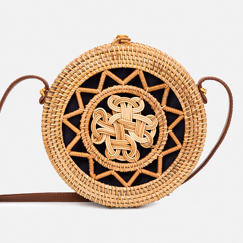 Women Straw Handbag 2018Fashion Women Crossbody Bag Handmade Woven Rattan Handbags Summer Casual Beach Bamboo Bag