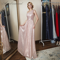 Angel married bridesmaid dress one shoulder formal dress long wedding party dress vestido de festa 2018 vestidos elegantes