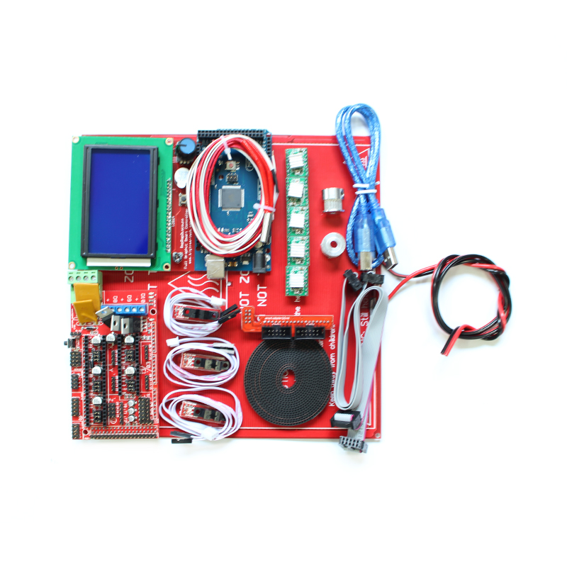 3D Printer Kit Ramps 1.4 + 12864 LCD + MK2B Heatbed + Controller  Prusa i3 free shipping