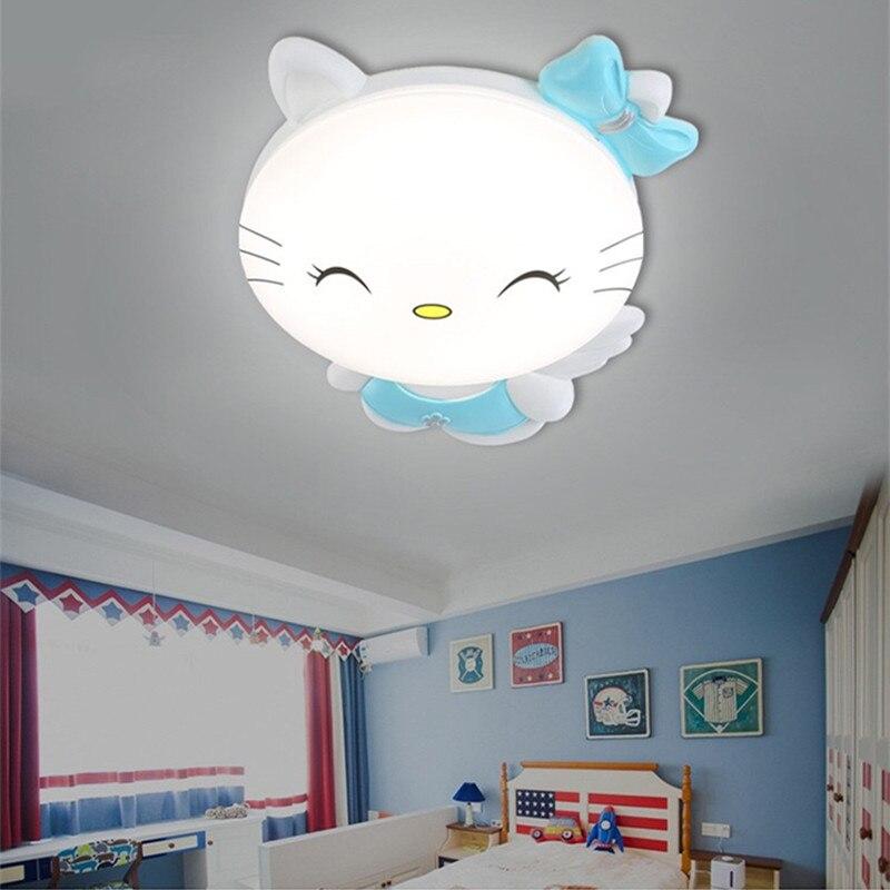 HAWBERRY LED A luce bianca neutro luce bianca calda per bambini camera da letto camera gattino del fumetto semplice lampada da soffitto - 2