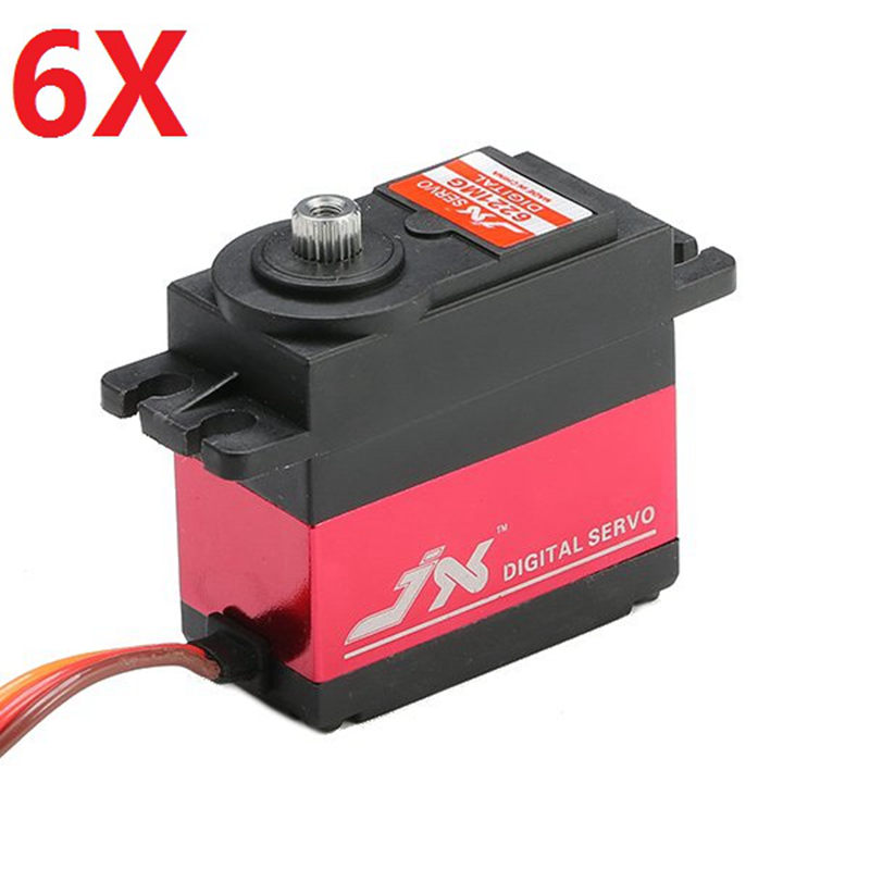 6X JX PDI-6221MG 20KG Large Torque Digital Standard Servo 360 Degree CW superior hobby jx pdi 6208mg 8kg high precision metal gear digital standard servo
