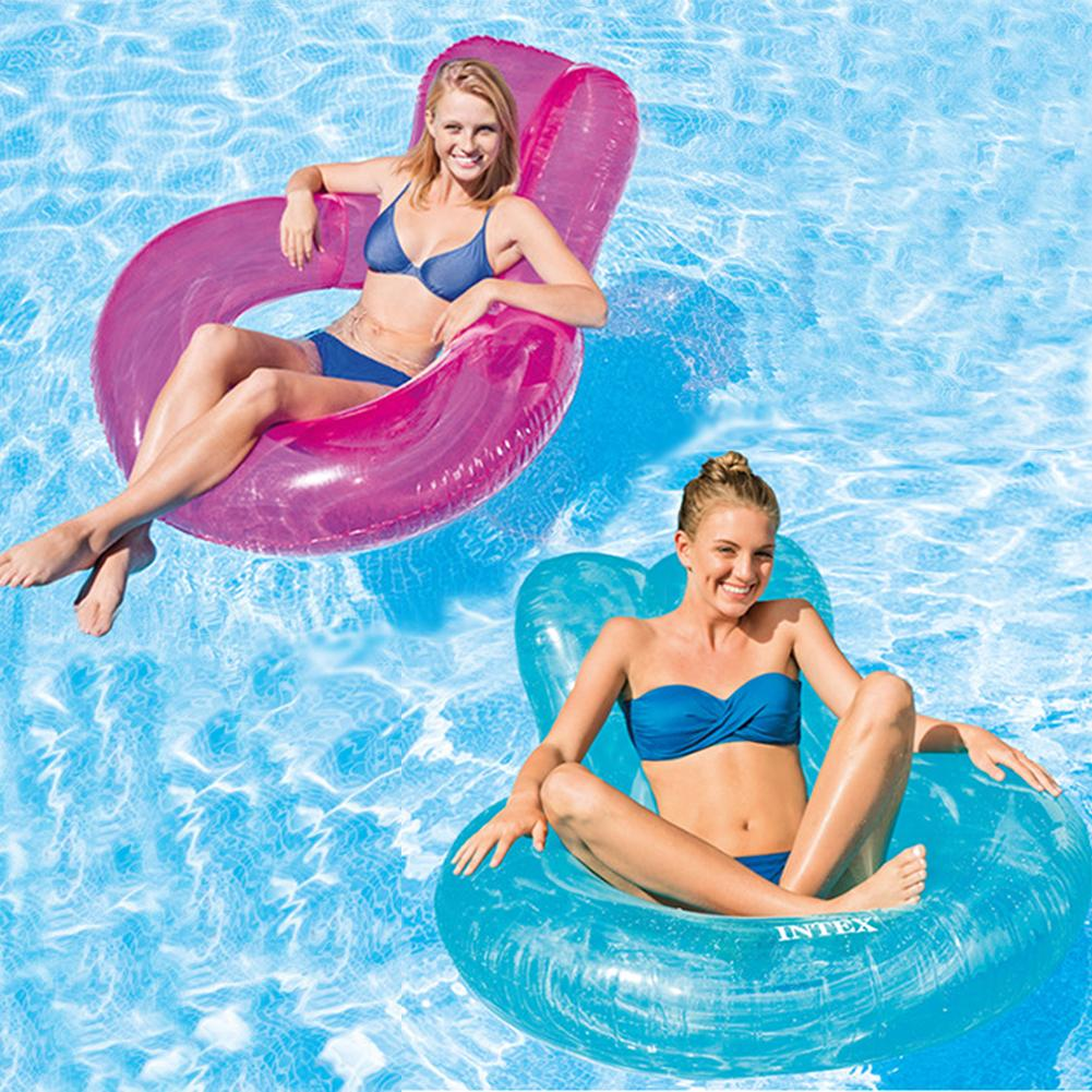 Summer Floating Row Swimming Ring Floating Bed Swimming Beach Water Toys For Adults Children Air Mattress Pool Lounger