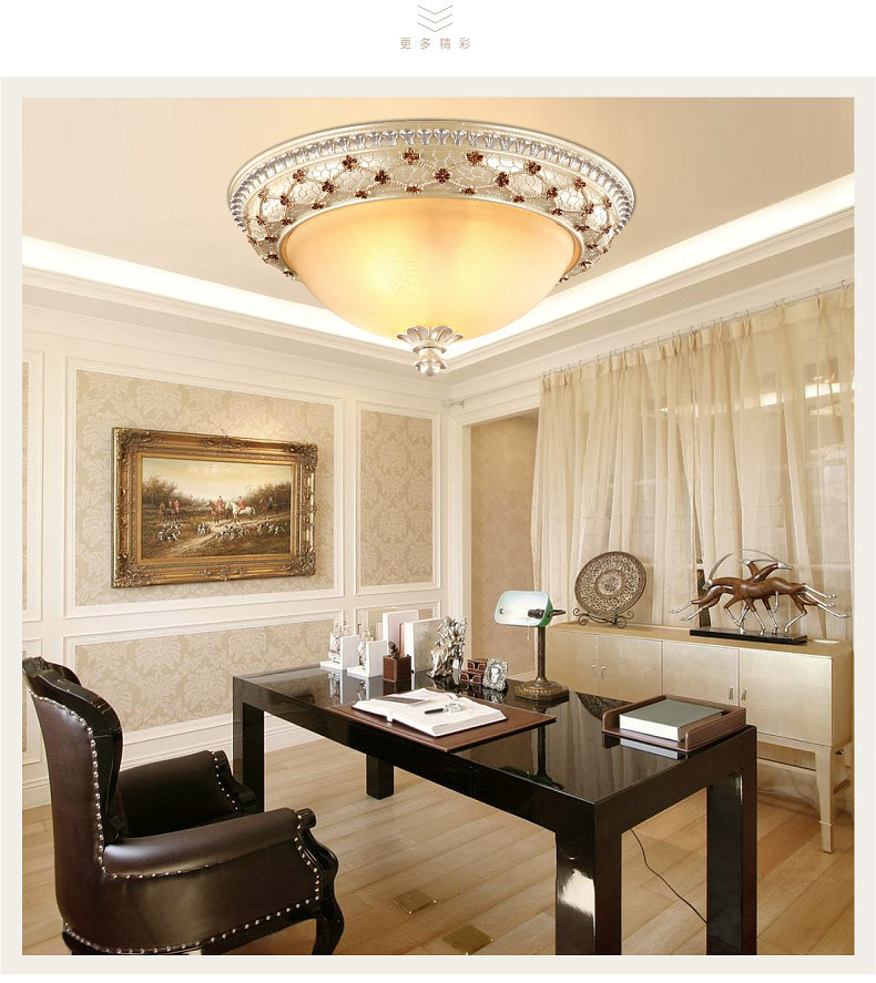 M European style E27 resin ceiling lamp circular 5-7W balcony lighting warm master bedroom lamps LED garden aisle lights circular ceiling wooden lighting lamps