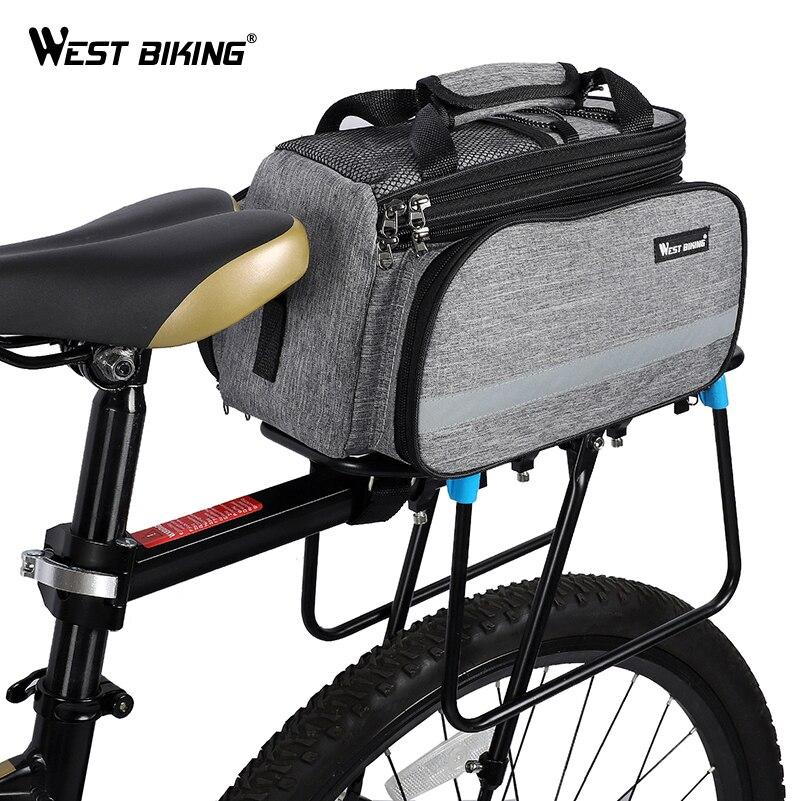 Bike Rear Carrier Bag Cycling Seat Luggage Storage Handbag Pack Pannier Back Bag