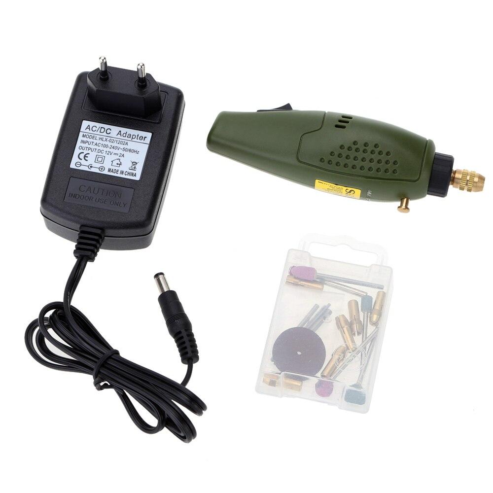 12 V DC Mini électrique Kit de ponçage Perceuse Meuleuse Outil De Forage De Polissage