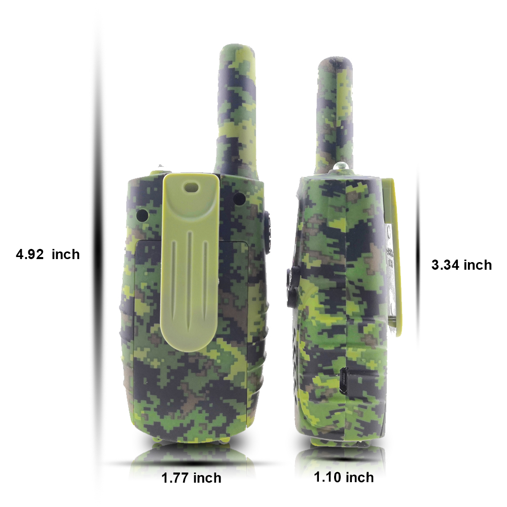 Image 2 - Portable Mini Kids Walkie Talkie PMR446MHZ 8/22CH Two way Radio LCD Display Fashlight with USB Charing jack for Children Gifts-in Walkie Talkie from Cellphones & Telecommunications