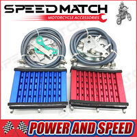 Oil Cooler Cooling Radiator For 50cc 70cc 90cc 110cc 125cc Horizontal Engine Dirt Bike/Pit Bike/Monkey Bike/ATV Engine Cylinder