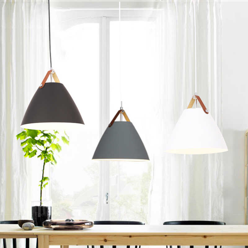 Modern Pendant Ceiling amps, E27 Aluminum Pendant Lights, Home restaurant decoration lighting lamps Nordic simple