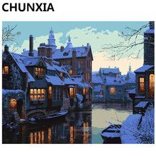 CHUNXIA Painting By Numbers DIY Framed Oil Paint Pictures Wall Art Home Decor Unique Gift E839(China)