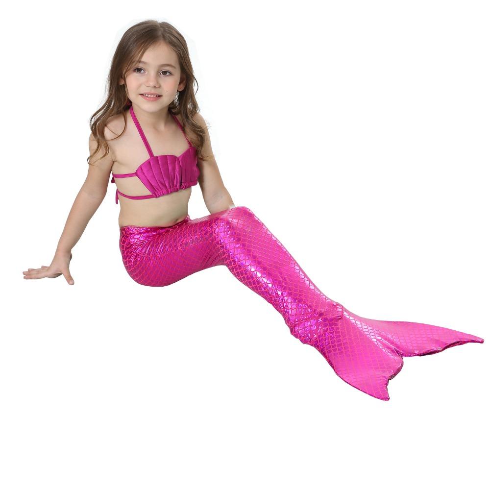 9db0e31472764 Fee Et Moi Girls Swimming Mermaid Tail Cosplay for Girls kids Fancy Dress  Swim Bikini Set Costume Sexy Bathing siwmmable Suit USD 15.90 piece