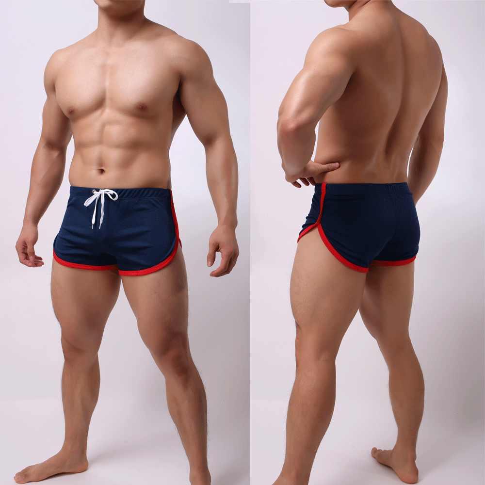Мужские летние дышащие сексуальные Полосатые плавки с низкой посадкой, пляжные шорты, боксеры, черные, синие, зеленые, белые