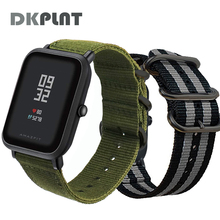 DKPLNT 20mm Common Nylon Bracelet For Huami Aamazfit Youth Smartwatch Band For Amazfit Bip Bit Youth Version Straps