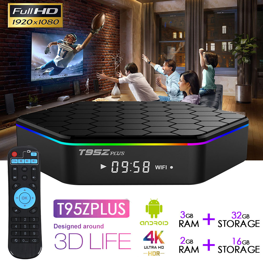 D'origine T95Z Plus boîtier de smart tv 2 GB/16 GB 3 GB/32 GB Amlogic S912 Octa base Android 6.0 TVBOX 2.4G/5 GHz WiFi BT4.0 4 K Set Top Box