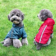Raincoat for Pets Cat Dog Raincoat Jacket Reflective Fleece Liner Warm Hood Drawstring Pet Clothing Wholesale Retail XS-3XL